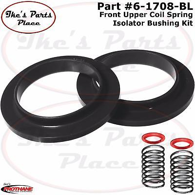 Prothane 6-1705-BL Black Rear Coil Spring Isolator Kit