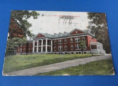Antique Postcard(s) MICH - I.O.O.F. New Home , Jackson - 1912