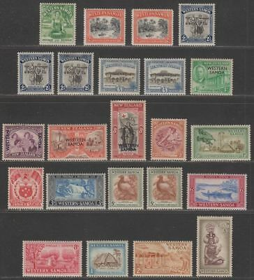 Samoa 1944-52 KGVI Selection Mint inc 1952 Pictorial Set with some perf tones