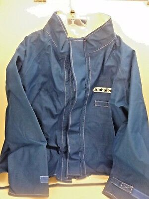 New!! Ansell Flame Resistant Jacket, 2Xl, Blue, 66-670-2Xl