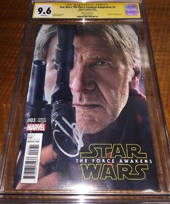 STAR WARS THE FORCE AWAKENS 3 Variant SS CGC 9.6 SIGNED BY Director  JJ ABRAMS