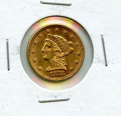 Fantastic 1878 United States Gold Liberty Head $2.50 Dollar Coin BF 386