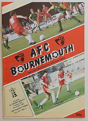 BOURNEMOUTH Vs KETTERING TOWN Prog - 20 November 1984 - F.A. Cup First Round