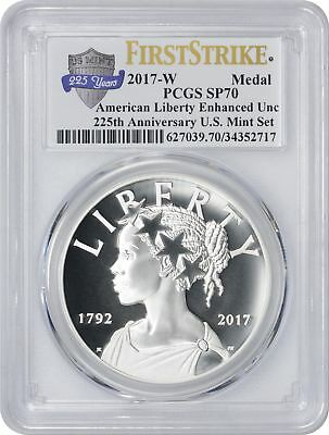 2017-W American Liberty 225th Anniversary Silver Medal SP70 PGCS First Strike AN