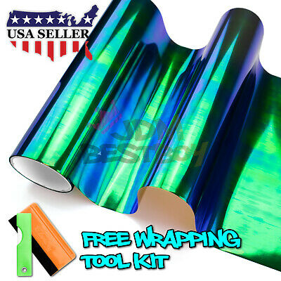 Neo Chrome Dark Smoke Chameleon Tint Headlight Taillight Fog Light Vinyl Film