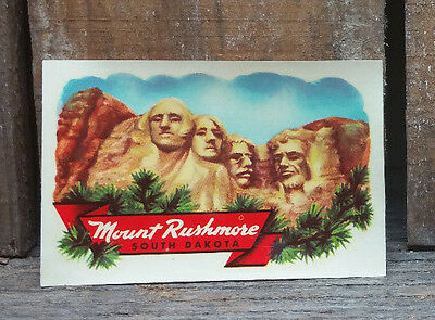 Vintage Kellogg's Travel Decal South Dakota Mt Rushmore Trailer Hot Rod Truck