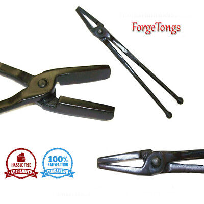 "blacksmith closed jaw forge tongs tools 12"" reins w ball end ..."