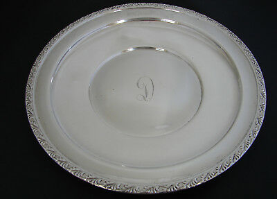 "M. Fred Hirsch Sterling Silver 8"" Service Plate - Decorative border"