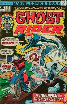 Ghost Rider (1st Series) #15 1975 FN- 5.5 Stock Image Low Grade