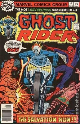 Ghost Rider (1st Series) #18 1976 FN- 5.5 Stock Image Low Grade