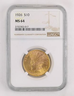 MS64 1926 $10.00 Indian Head Gold Eagle - PPQ *2151