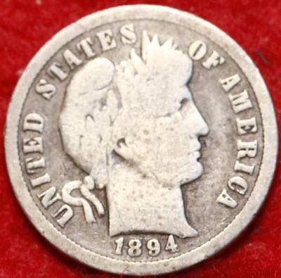 1894-O New Orleans Mint Silver Barber Dime Free Shipping