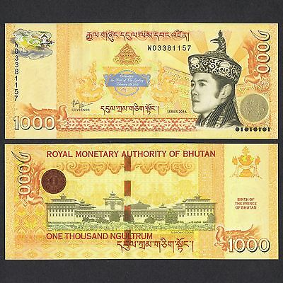 2016 Bhutan 1,000 1000 Ngultrum P-New Unc *commemorative* Nr