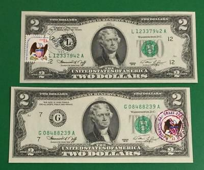 1976 $2 Choice Crisp Uncirculated First Day Issues San Fran & Chicago X942