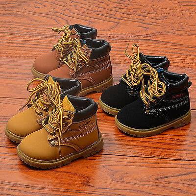 Fashion Baby Boys Martin Boots Toddler Short Boots Fall Winter Warmth Size 5-14