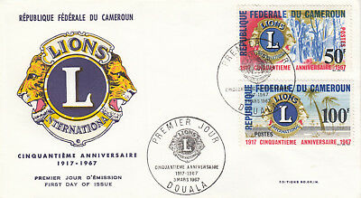 (06762) Cameroon FDC Lions International Douala 3 March 1967
