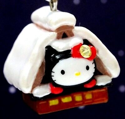 Hello Kitty X Gifu Shirakawa-go House Swarovski Elements Crystals Japan Charm