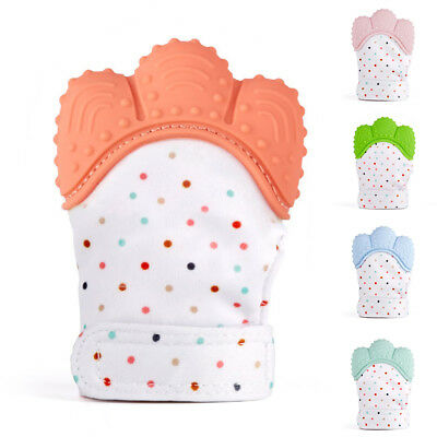 Silicone Baby Mitt Teething Mitten Teething Glove Candy Wrapper Sound Teether LD