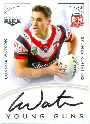 2017 ESP NRL ELITE Young Gun Signature YG14 Connor Watson - Roosters 090/130
