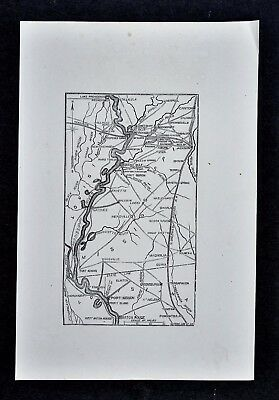 1865 Civil War Map Vicksburg Jackson Natchez Port Hudson Baton Rouge Mississippi