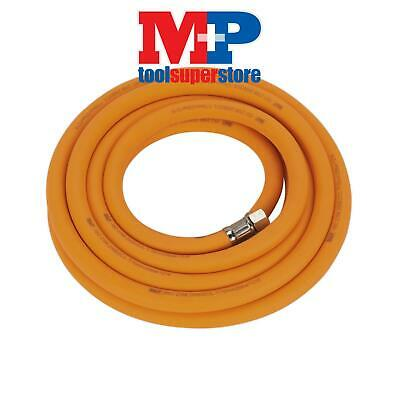 "Sealey AHHC538 Air Hose 5mtr x �10mm Hybrid High Visibility with 1/4""BSP Unions"