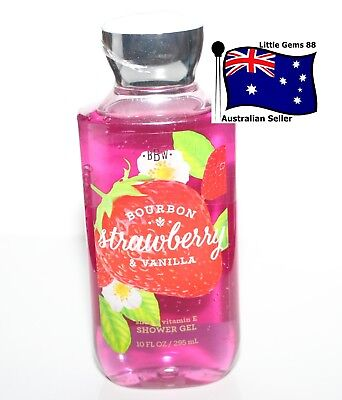BATH & BODY WORKS ** Bourbon Strawberry & Vanilla ** SCENTED SHOWER GEL 295ML