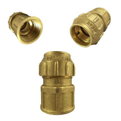 Brass Compression fitting for PE pipe,Coupling with internal thread,20,25,32,40,