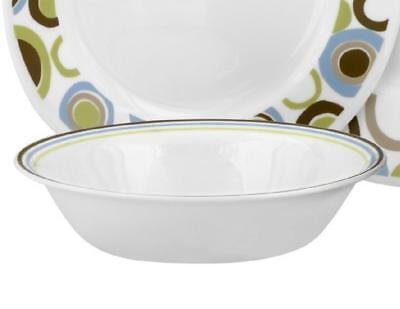 "1 Corelle 7 1/4"" Lifestyles ROLA 18-oz SOUP CEREAL BOWL Blue Green Brown Rim NEW"