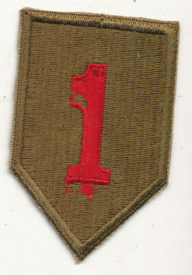 1st Infantry Division patch Big Red One WWII make US Army embroidery error