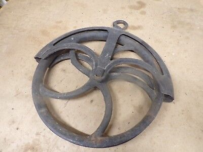 Big Old Greenwood cast iron  Water Well Bucket Rope Pulley Wheel