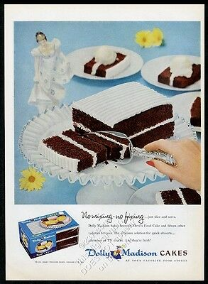 1956 Dolly Madison Devil's Food Cake color photo vintage print ad