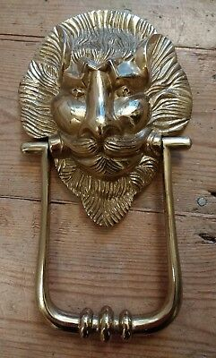 Brass Lion / Devil Door Knocker / Handle - Vintage Look Gothic Doorknocker