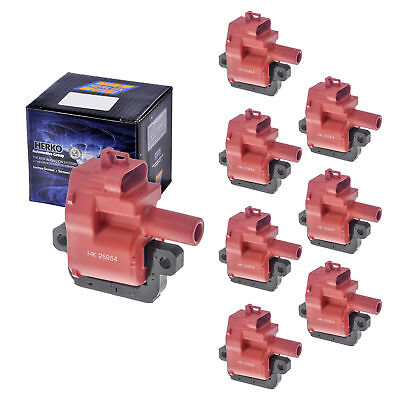Set of 8 B031He Racing Ignition Coils For Cadillac Chevrolet GM LS1 LS6 97-05