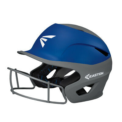 Easton Prowess Fastpitch Softball Batter's Helmet w/Mask Charcoal/Royal A168502