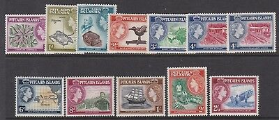 Pitcairn Islands 1957 Qeii Definitive Set Lightly Hinged Mint