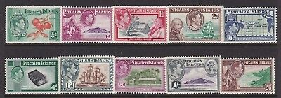 Pitcairn Island 1940 Kgvi Definitive Set Lightly Hinged Mint