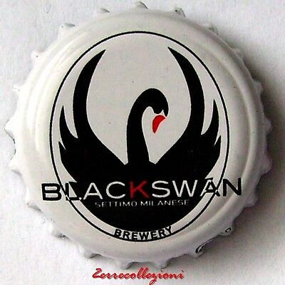 TAPPO MICRO BIRRIFICIO BLACK SWAN ITALIA crown bottle caps kronkorken chapas