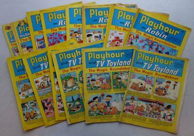 Playhour and TV Toyland comic 1968-1974 x 16 Most FR and GD (phil-comics)