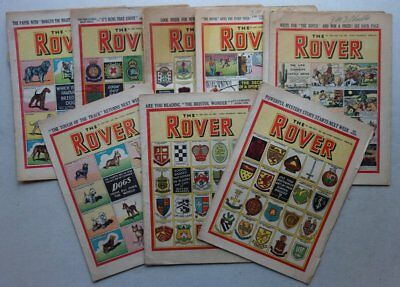 Rover comic 1952-1953 x 10 FR and GD (phil-comics)
