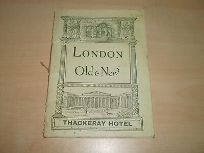 1924 London Old&New Small Guide By Thackeray Hotel Illustrated Cardcover Book
