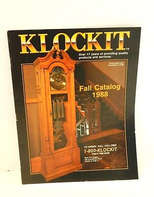 1988 Klockit Fall Catalog clock kits prices parts vtg brochure color pictures WI