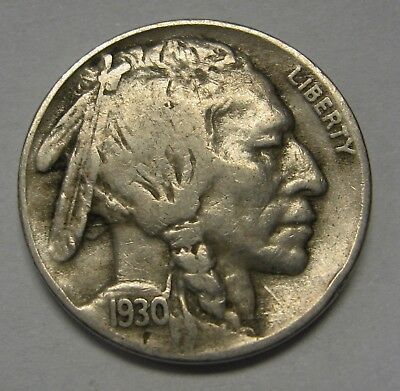 1930-S Buffalo Nickel in the VG to FINE Range Nice Original Coins DUTCH AUCTION