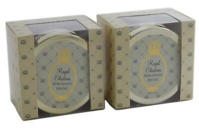 DOUGLAS Royal Christmas WHITE ALMOND Bath Salt BADESALZ 2 x 265g Tiegel accentra