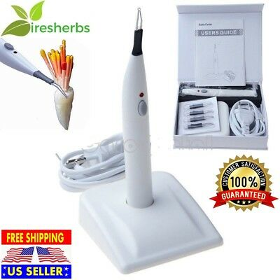 1 Kit AZDENT Dental Endo Cordless Gutta Percha Tooth Gum Cutter with 4 Pcs Tips