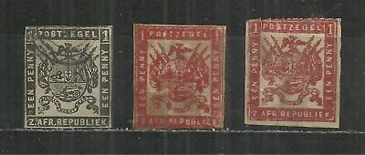 (W110) TRANSVAAL 1870s Stamps x3