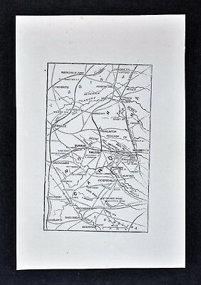 1865 Civil War Map - Raleigh Durham University of North Carolina Goldsboro