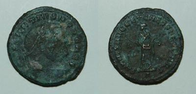 ANCIENT ROME :  LARGE FOLLIS OF CONSTANTIUS I - Father of Constantine I