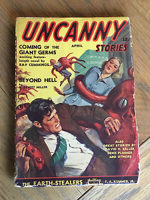 Uncanny Stories - US Horror pulp - FIRST ISSUE - April 1941 SCARCE ONE-SHOT PULP
