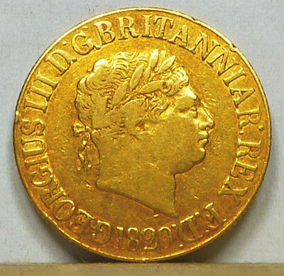 Great Britain Gold Sovereign 1820 Fine Condition