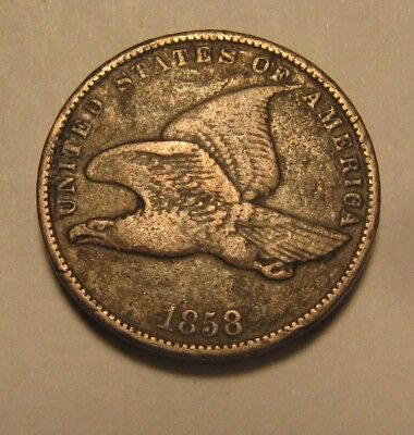1858 Small Letters Flying Eagle Cent Penny - Very Fine Condition - 37SA